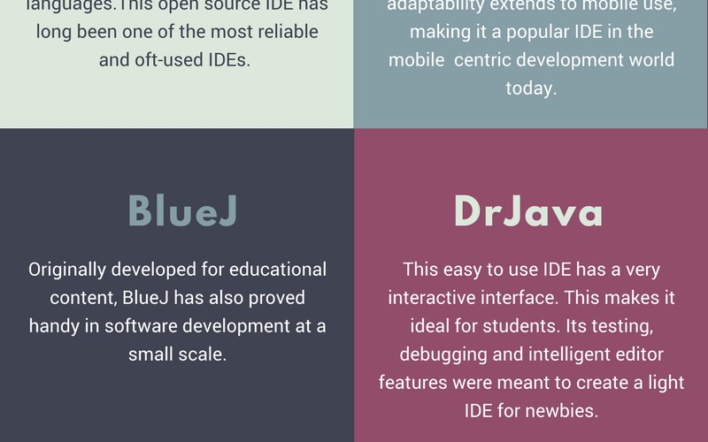 The Best Java IDEs and What to Expect From Them [Infographic